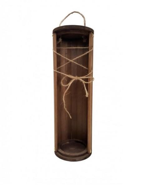 Cutie lemn 1 sticla cu sfoara